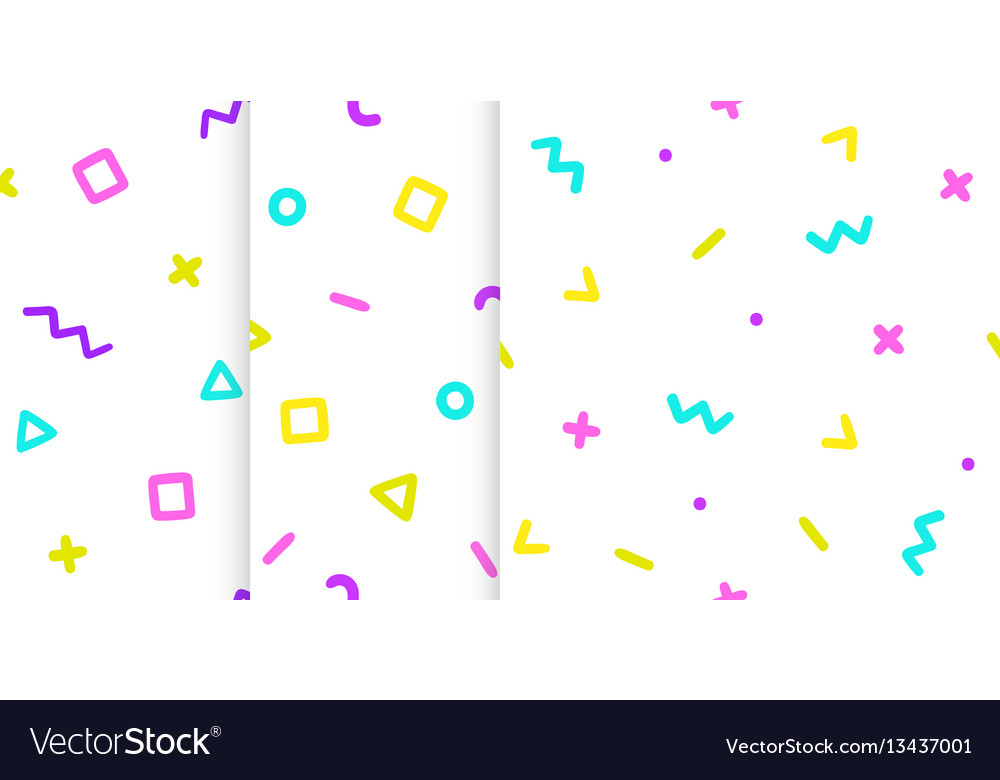Set of three backgrounds with symbols vector image