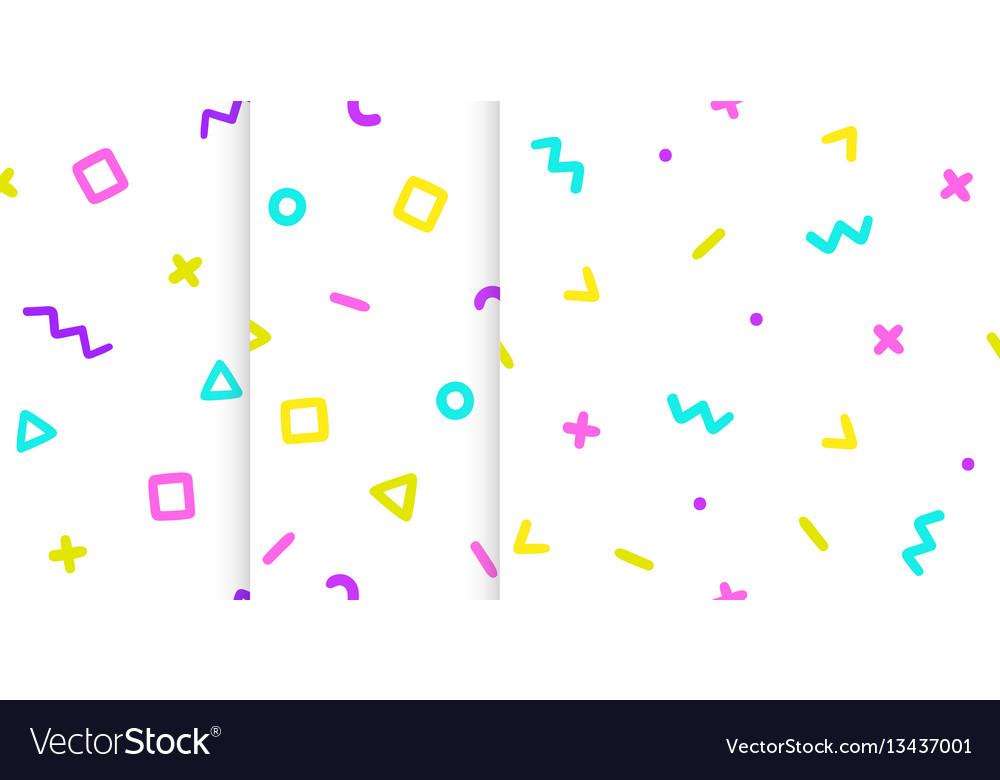 Set three backgrounds with symbols