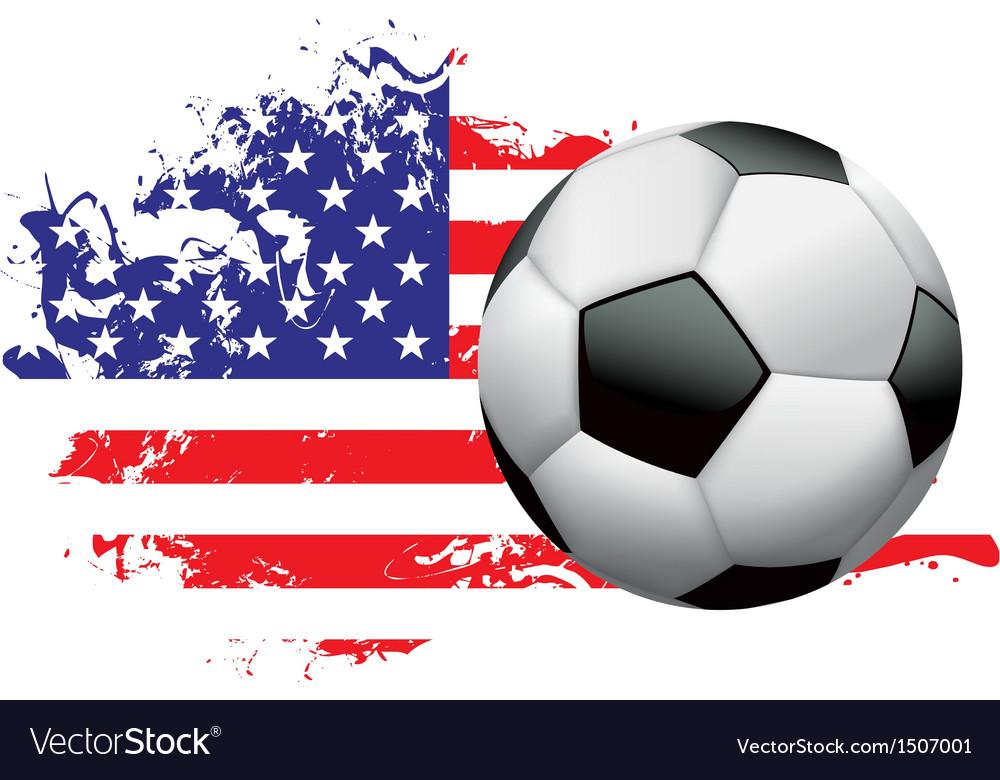 United States Soccer Grunge