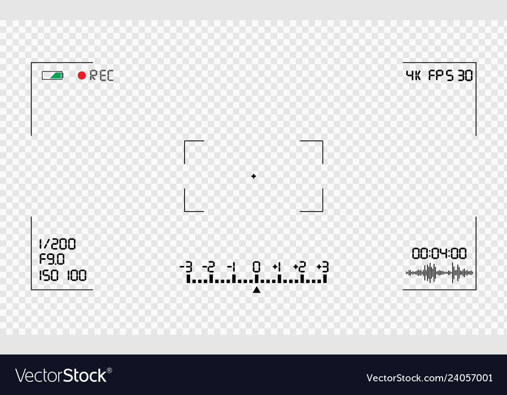 Video camera viewfinder overlay vector image