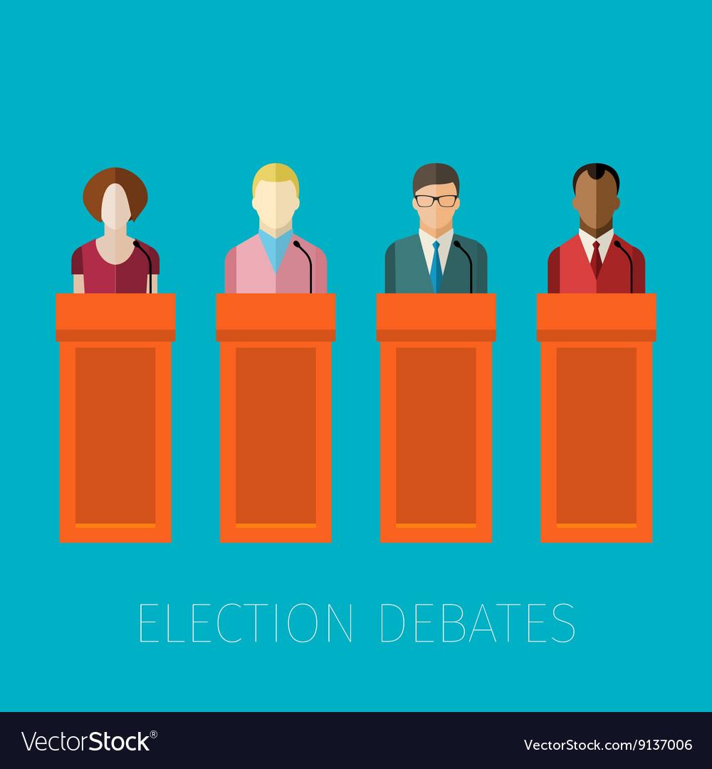 Concept of election debates vector image