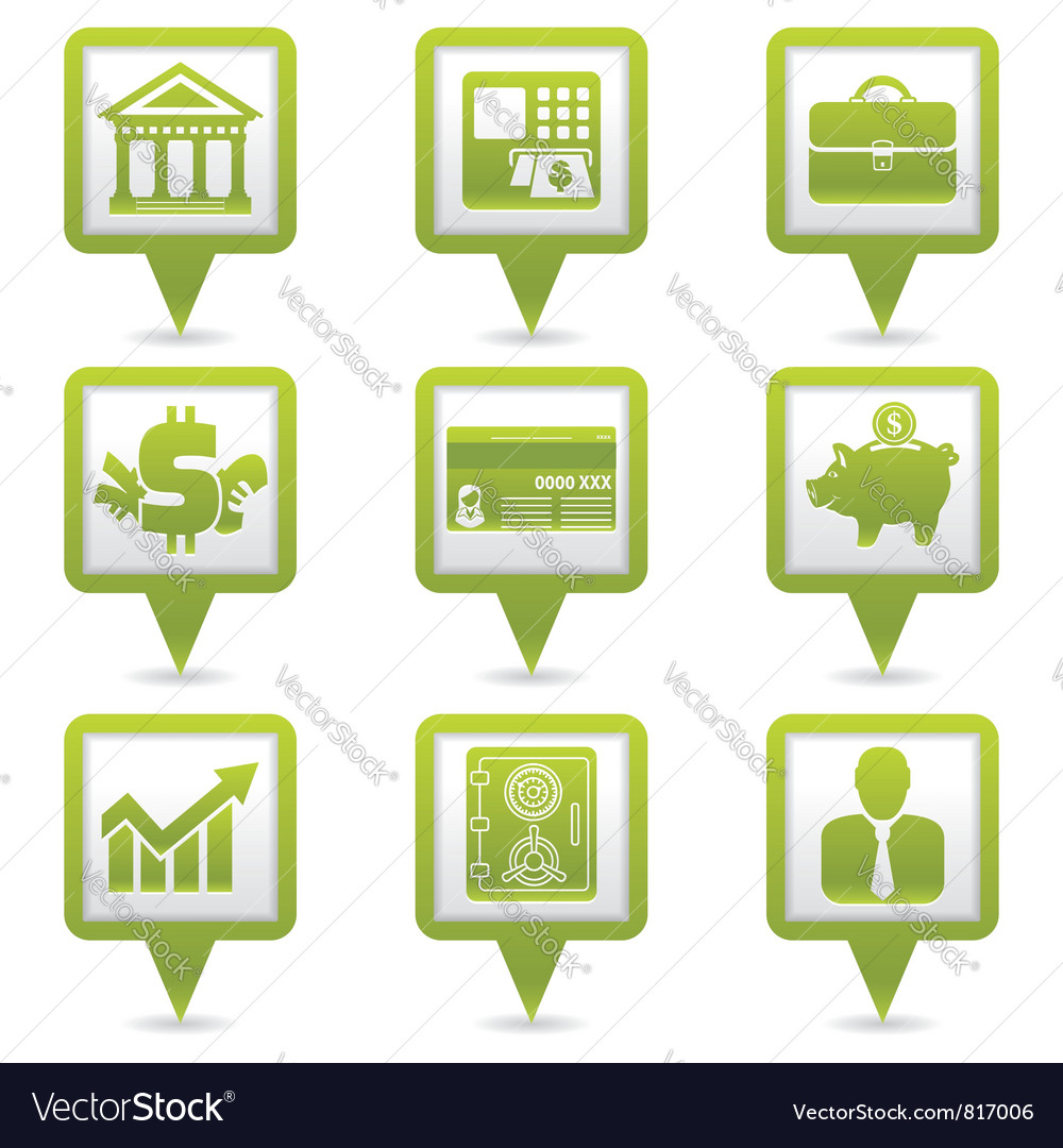 Financial Map Pointers vector image