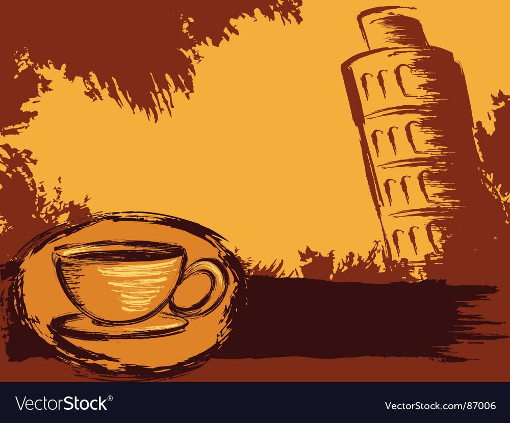 Italian coffee background vector image