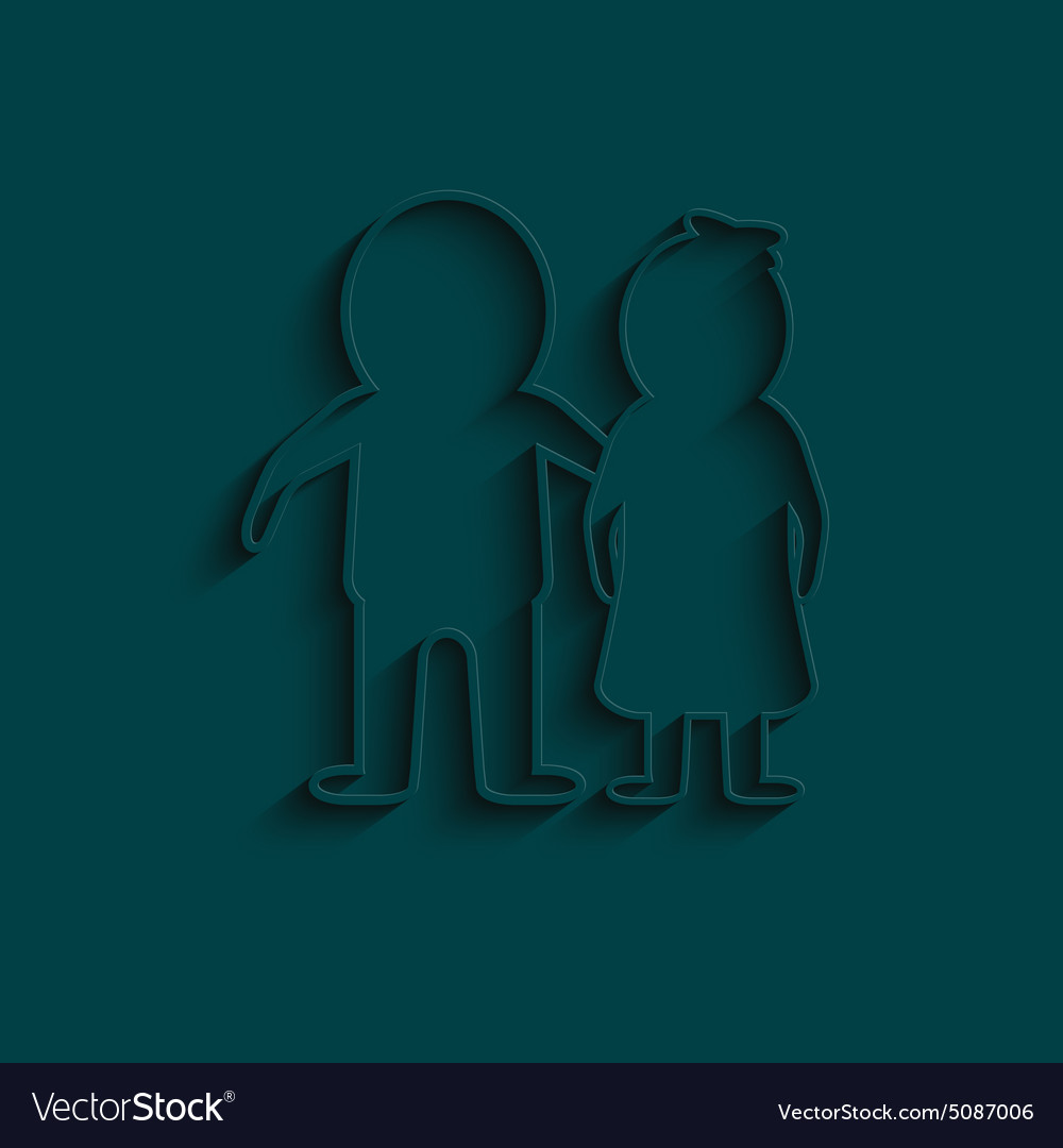 Man and woman icon isolated white on the blue