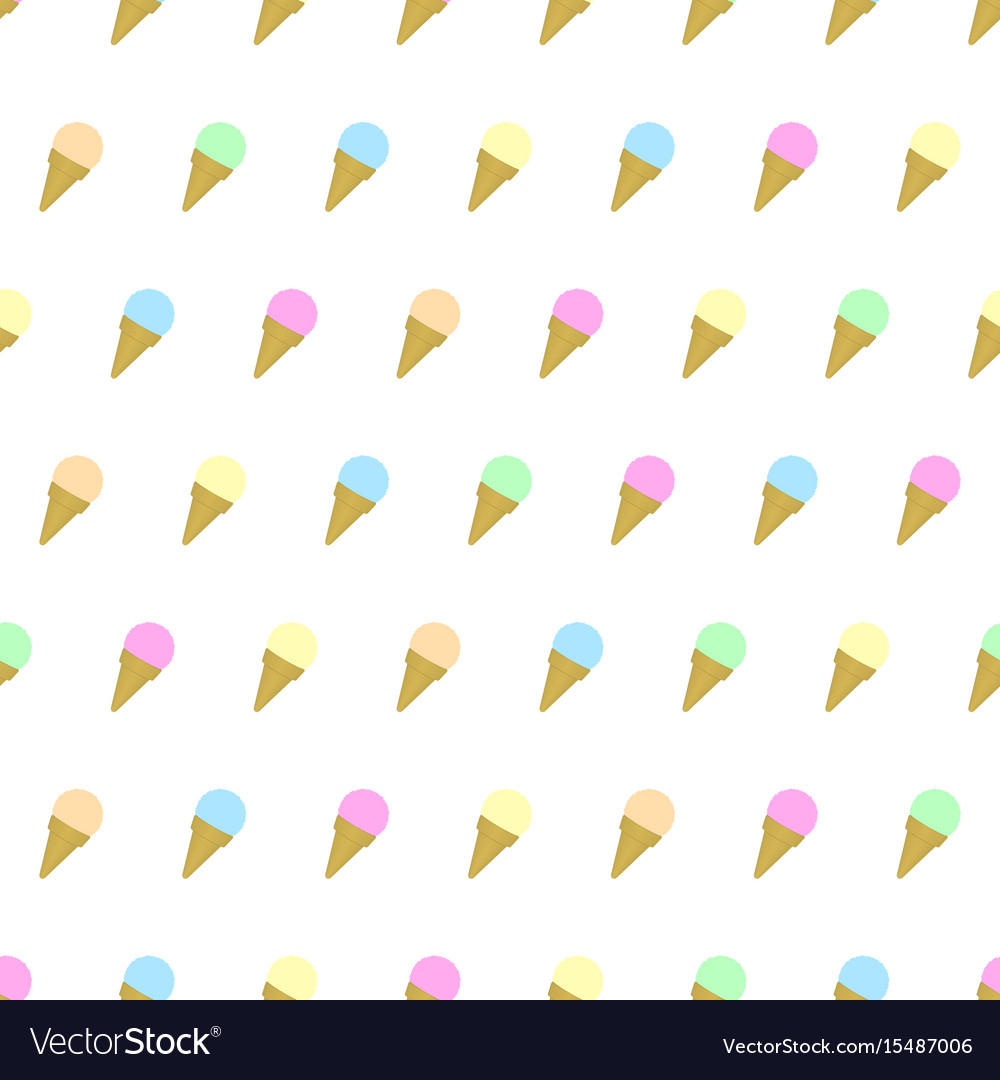 Pattern Cute Colorful Ice Cream Textiles Stock Vector: Seamless Pattern Colored Ice Cream Background Vector Image