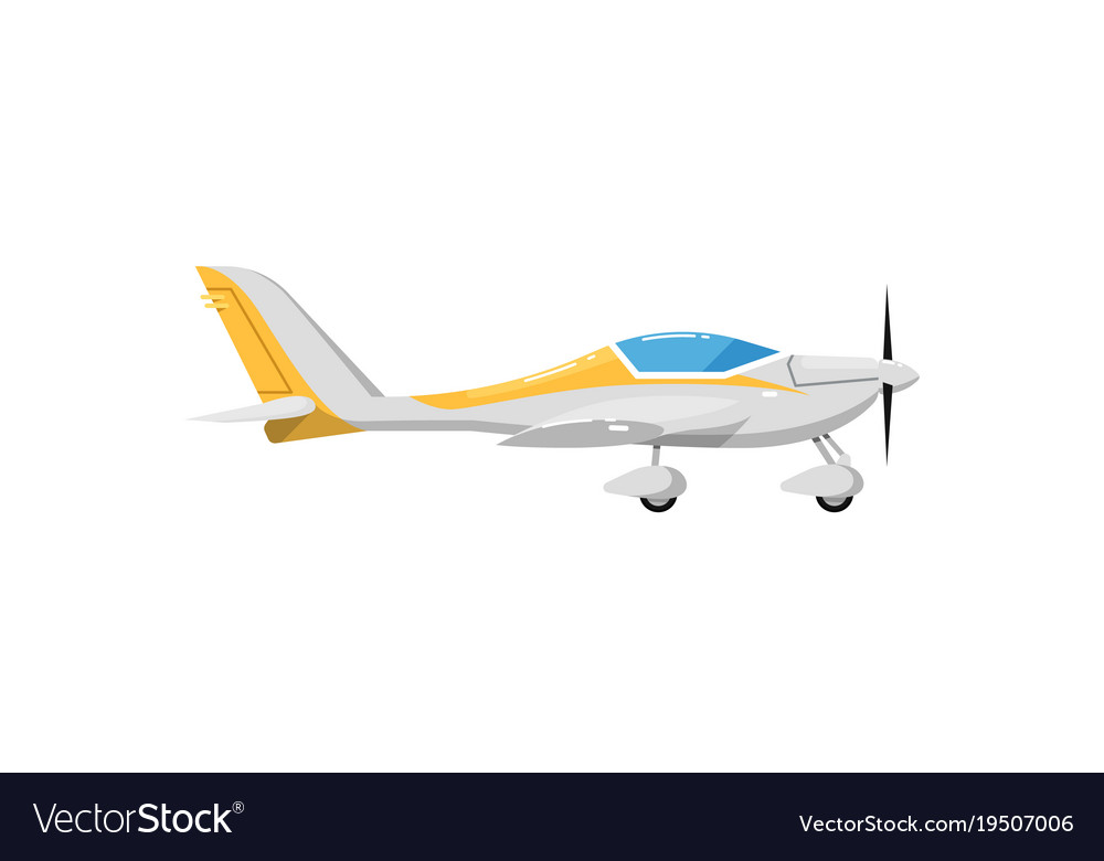 Small propeller airplane isolated icon