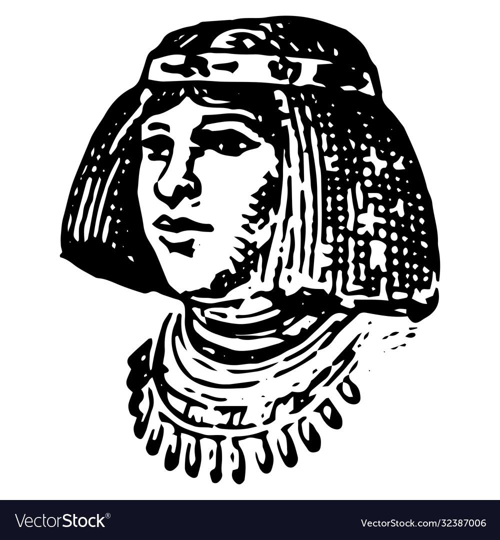 Vintage engraving an egyptian