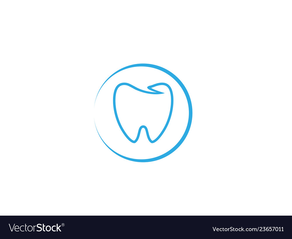 Blue teeth care in a circle for dentist