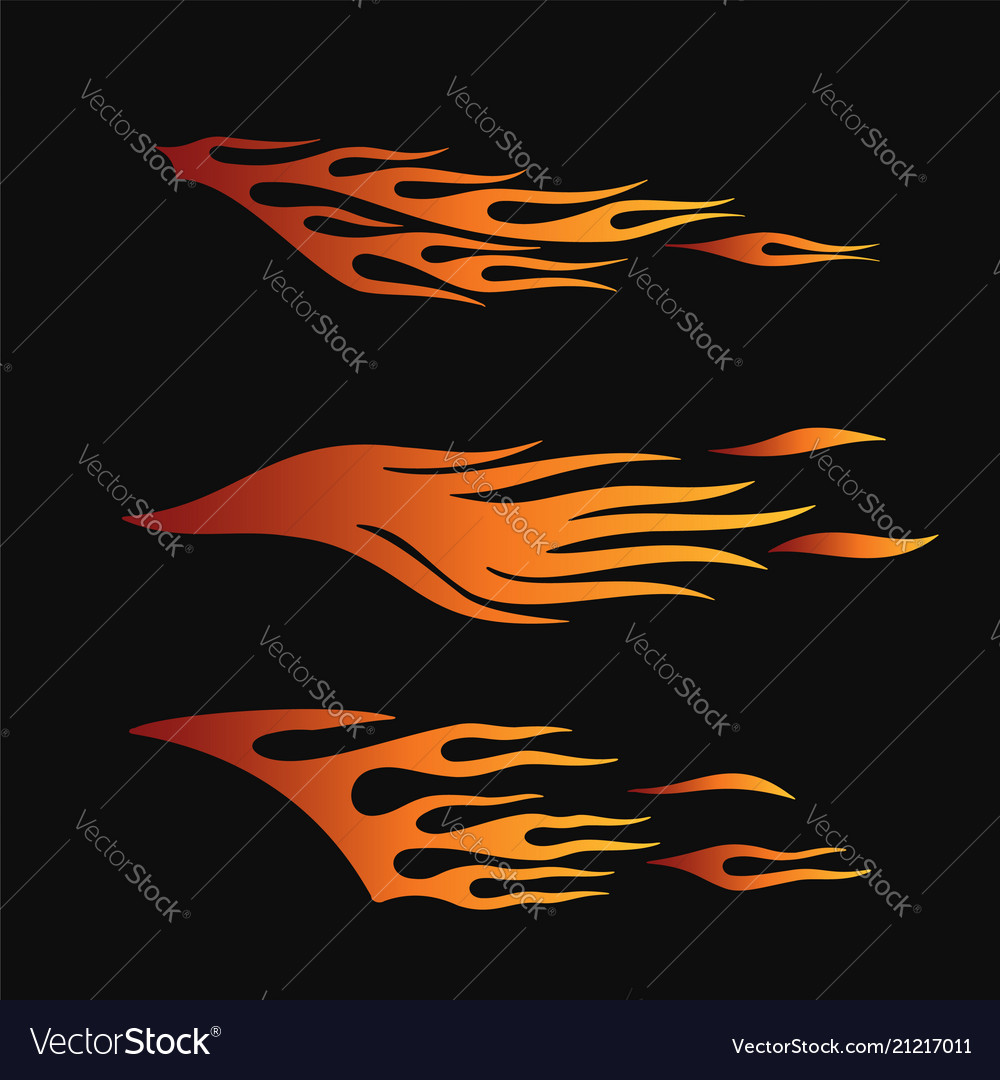 Fire flames in tribal style for tattoo vehicle