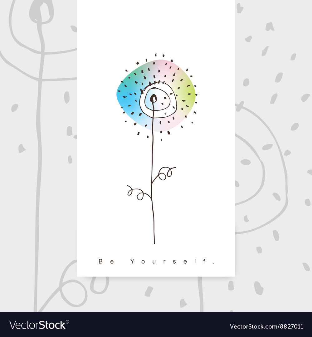 Greeting card with copy space vector image