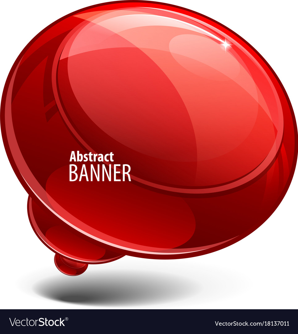 Red glossy glossy banners