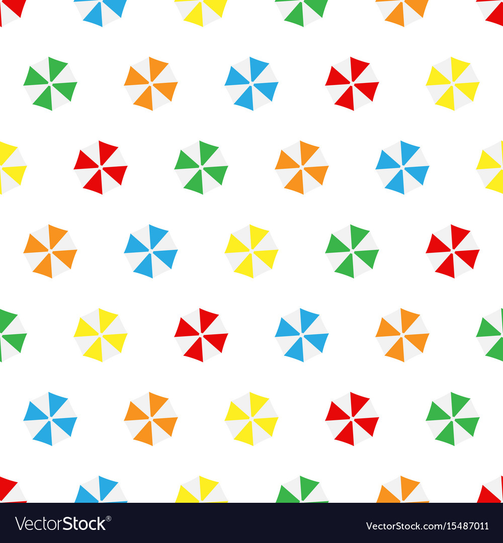 Seamless pattern summer beach different colors