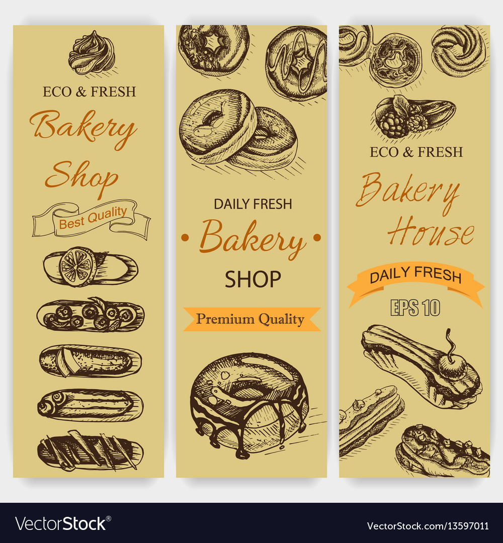 Sketch bakery vintag card