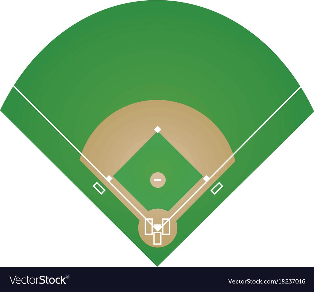 baseball field royalty free vector image vectorstock rh vectorstock com baseball field position vector baseball field position vector