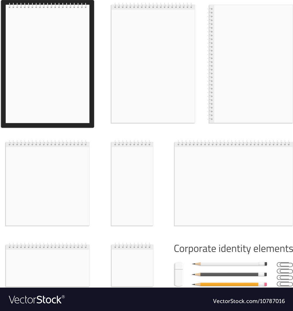 Blank corporate identity elements vector image