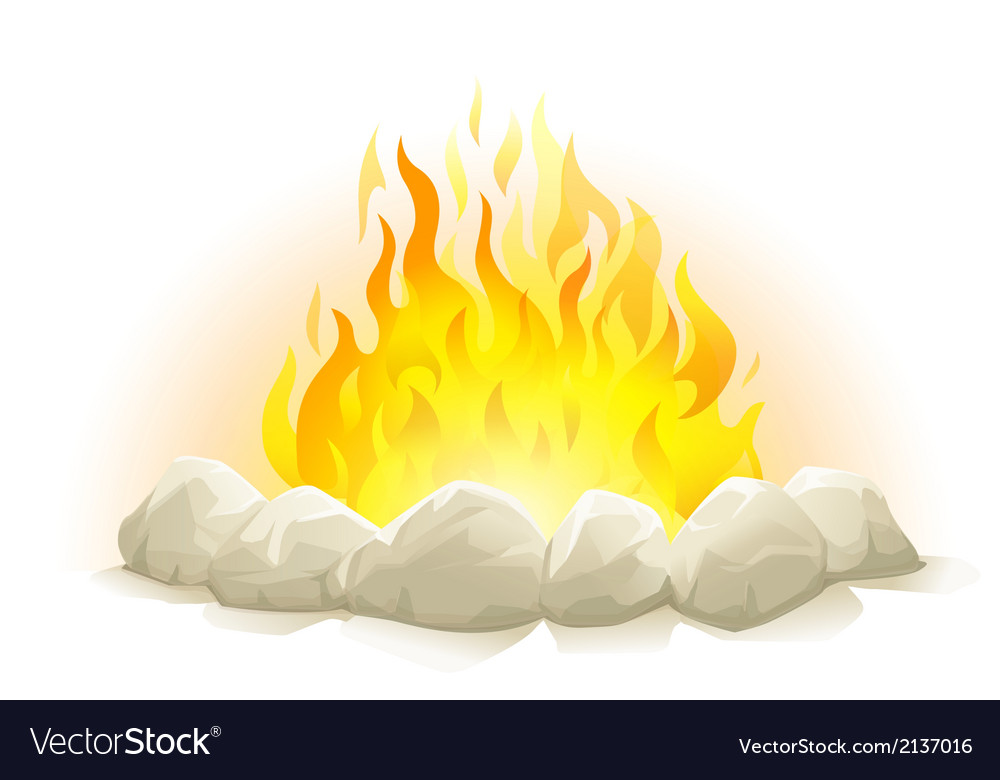 Campfire with stones