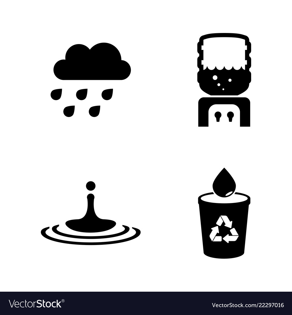 Water aqua simple related icons