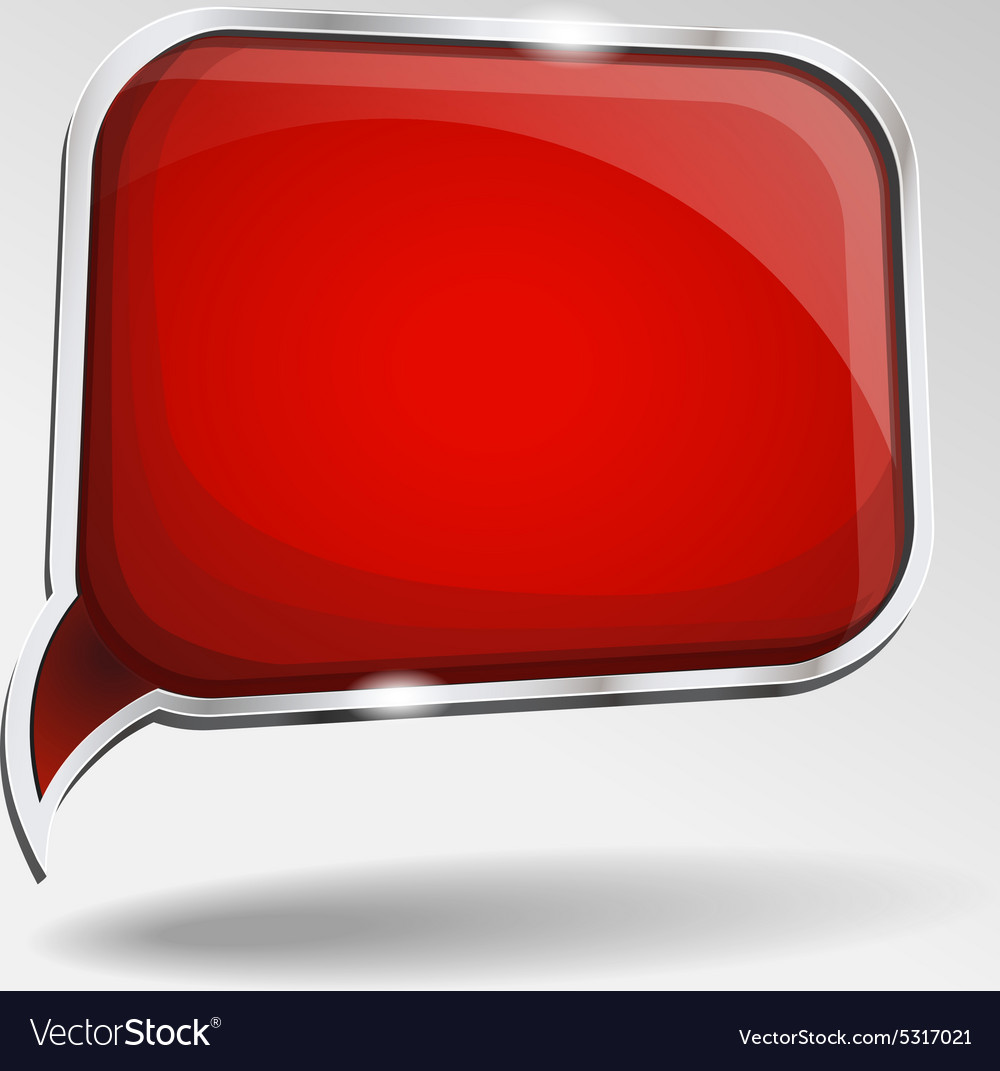 Abstract glossy red speech bubble