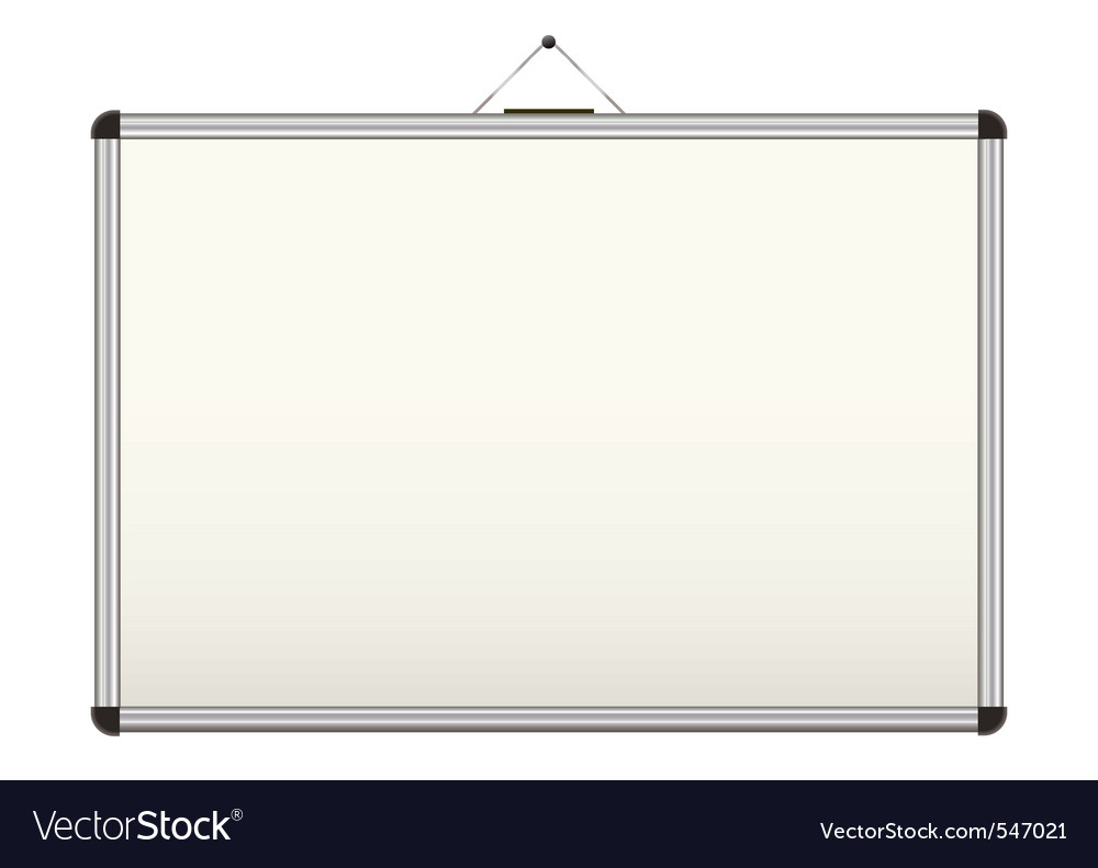 Blank whiteboard vector image