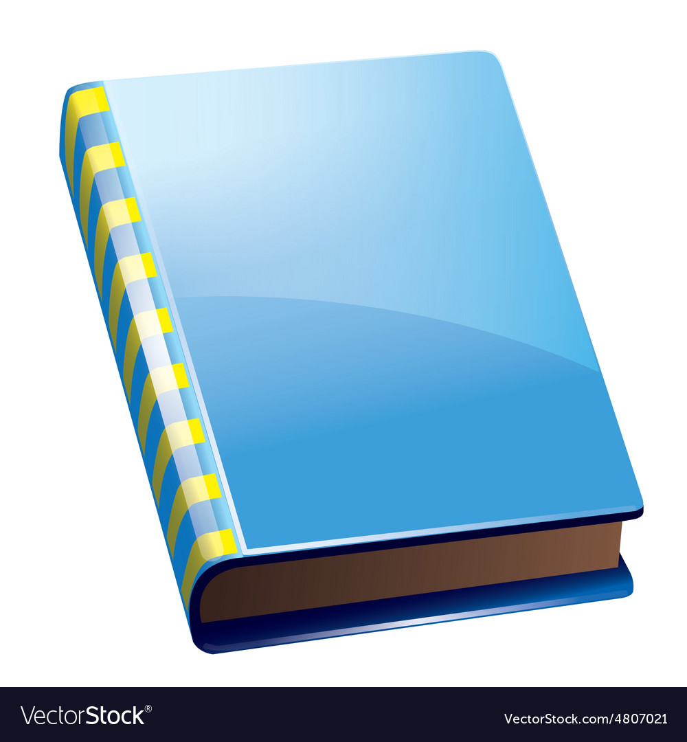 Blue book icon vector image