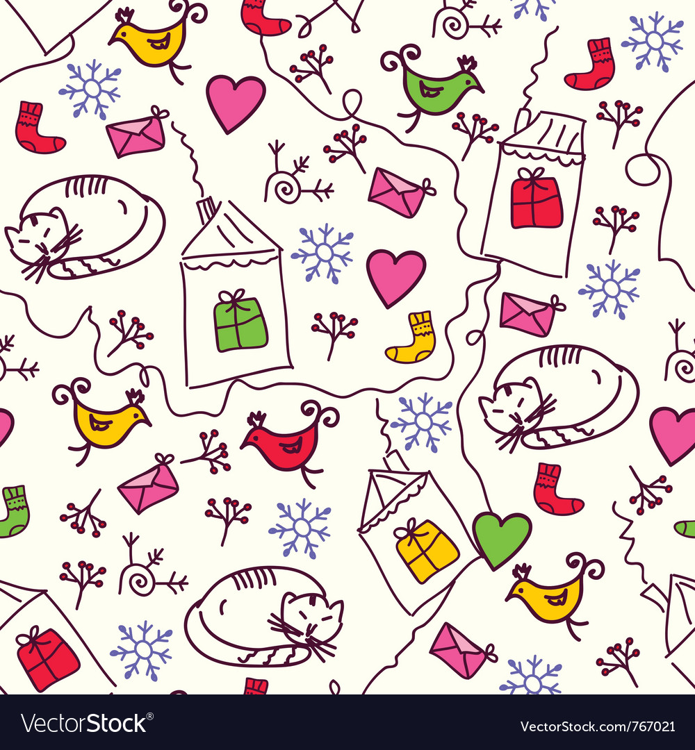 Cat and bird wallpaper