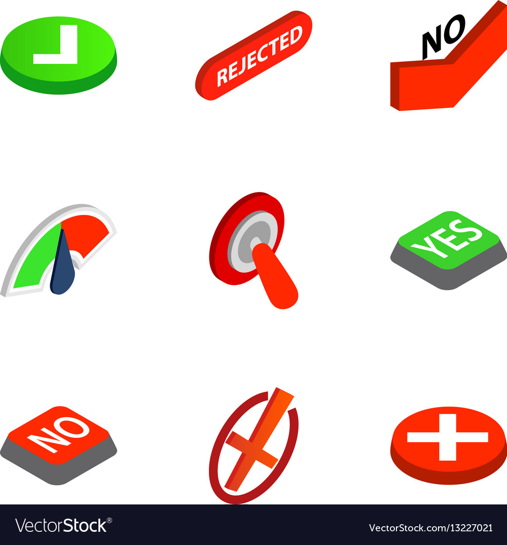 Check mark icons isometric 3d style