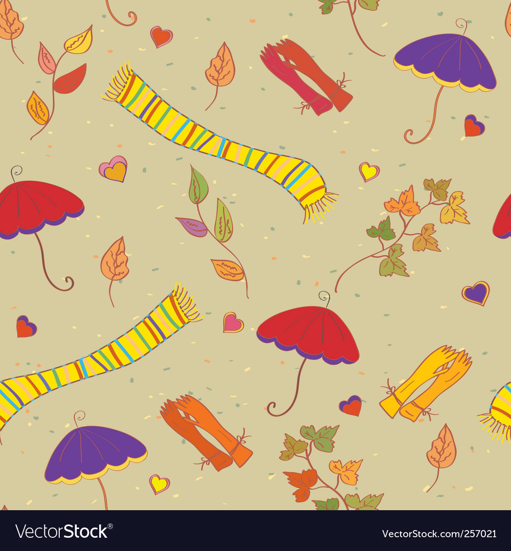 Fall accessories vector image