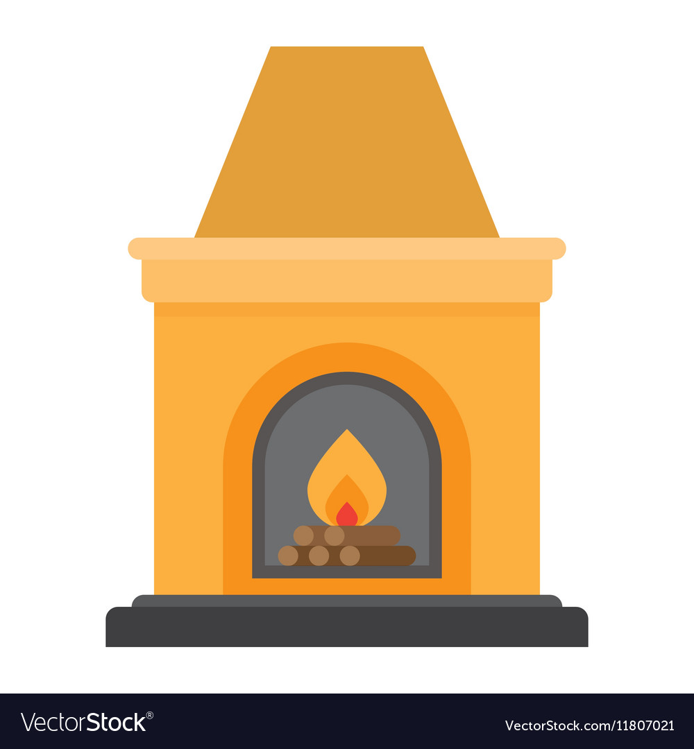 Fireplace flame bright