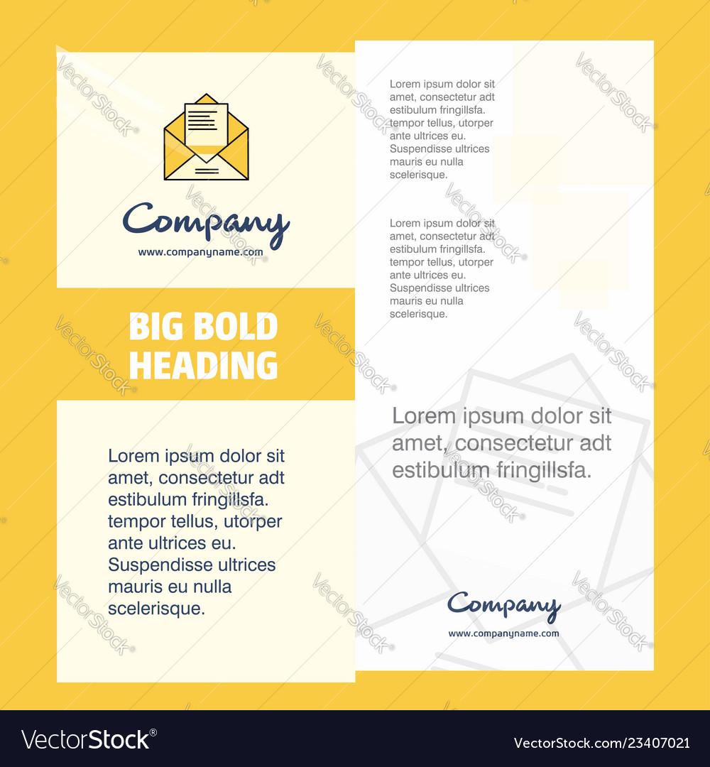 Letter Company Brochure Title Page Design Company