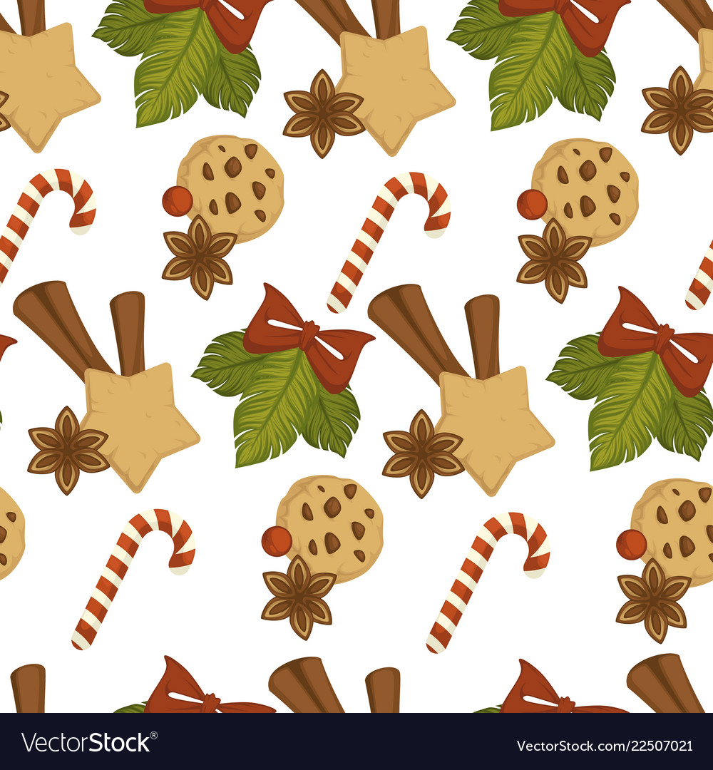 Merry christmas baked cookies with chocolate and