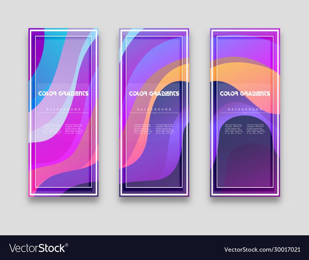Minimal covers design colorful halftone gradients