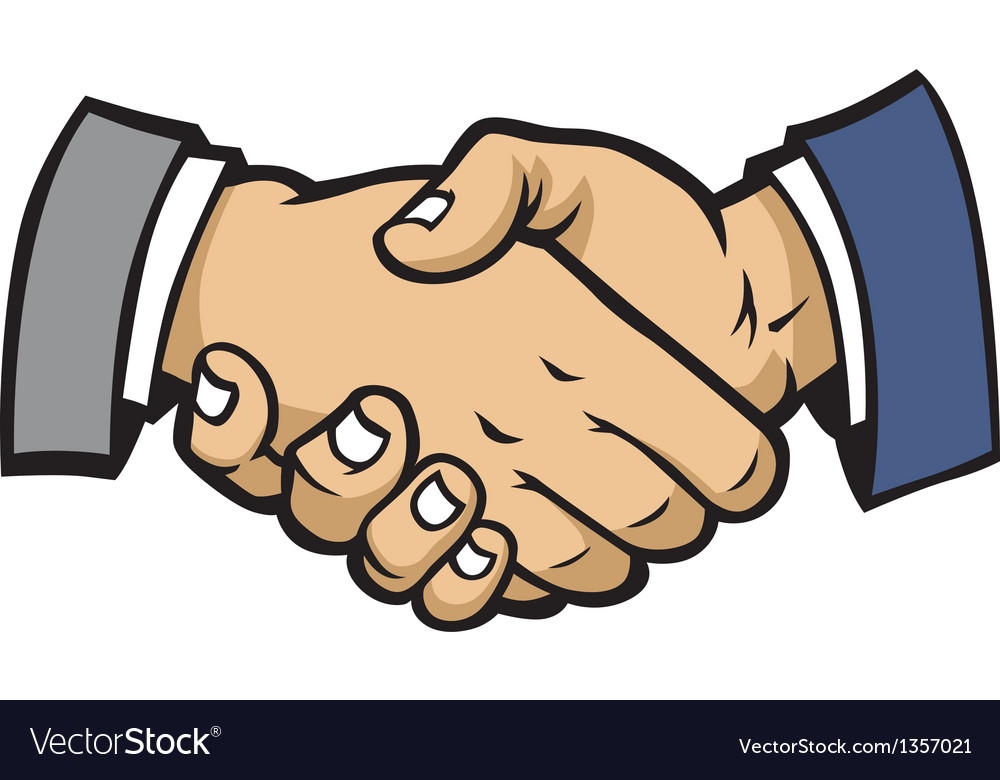 shake hand royalty free vector image vectorstock rh vectorstock com shaking hands vector icon shaking hands vector art