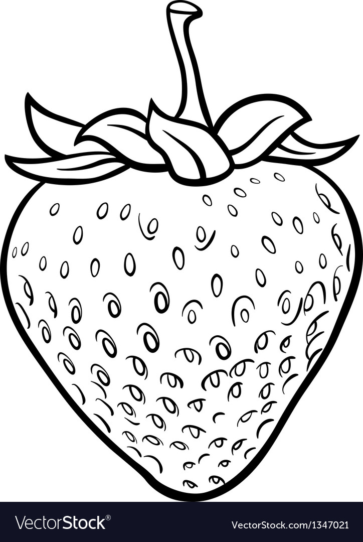 - Strawberry For Coloring Book Royalty Free Vector Image
