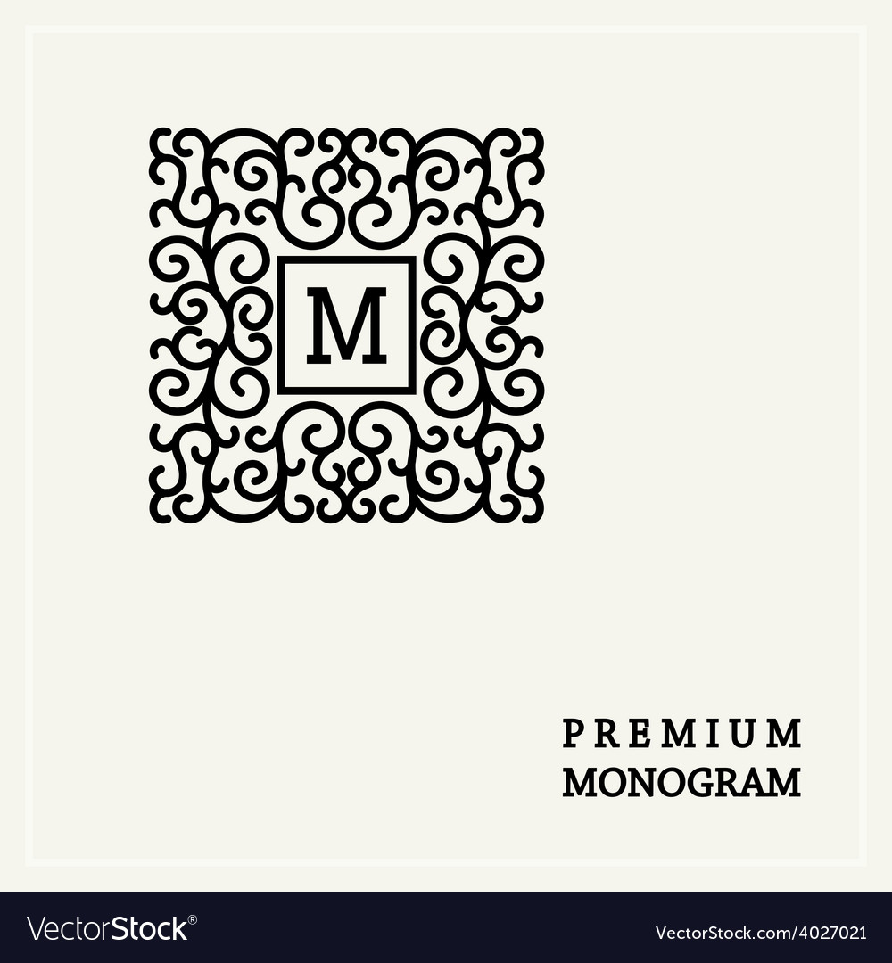 Stylish graceful monogram in Victorian Style vector image