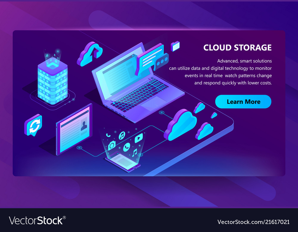 Template site for cloud storage