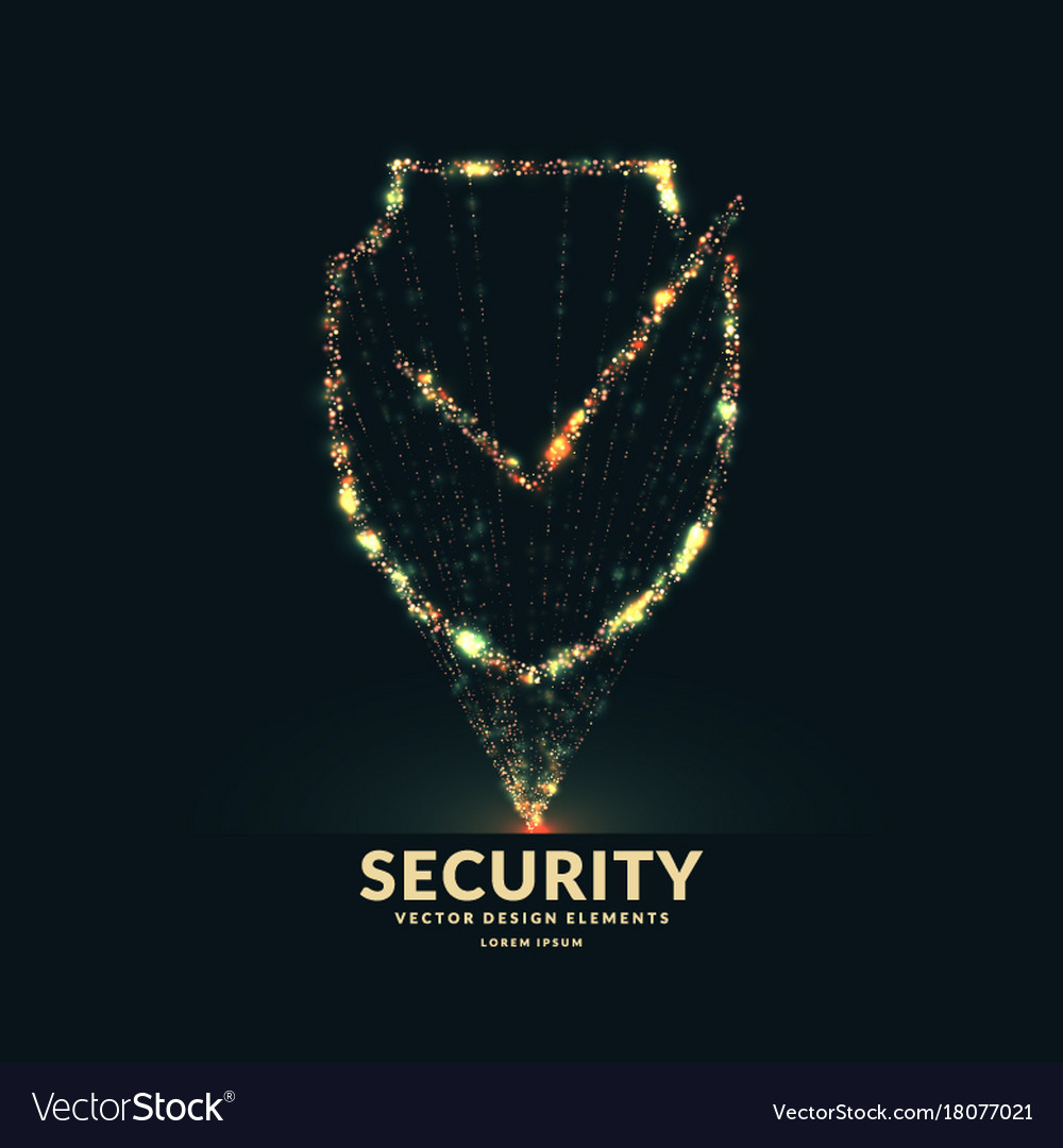 The Shield A Symbol Of Security And Reliability Vector Image