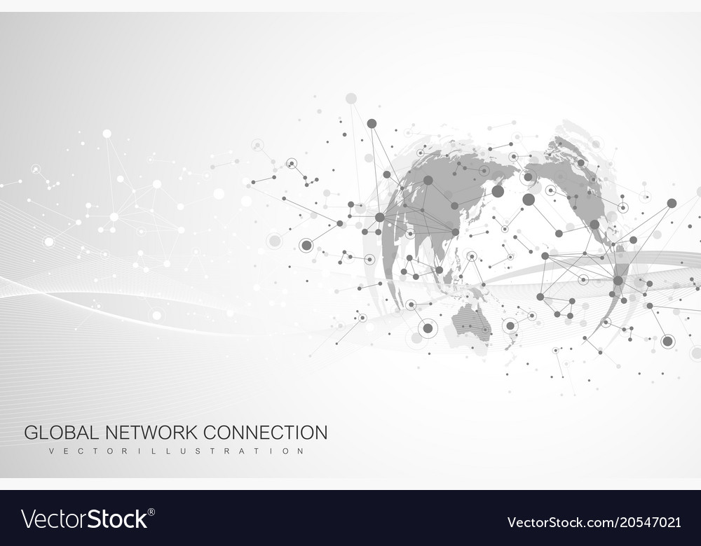 World map point with global technology networking