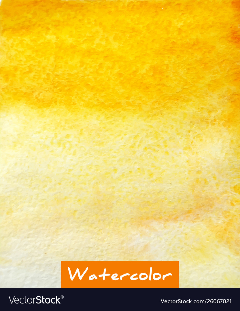 Yellow abstract watercolor hand draw background