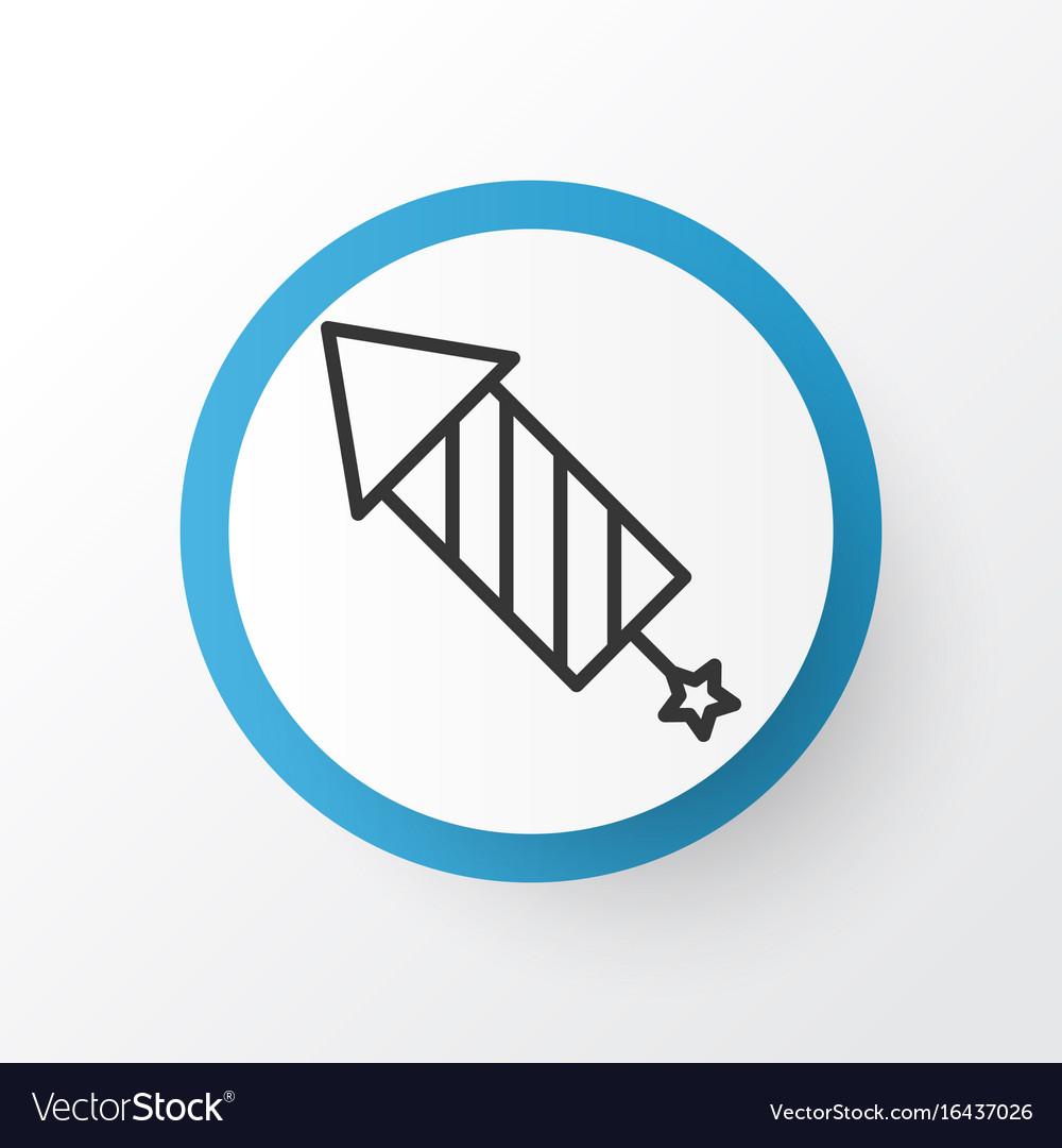 Celebration rocket icon symbol premium quality vector image