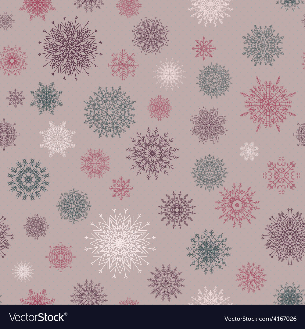 Christmas seamless pattern from red and blue