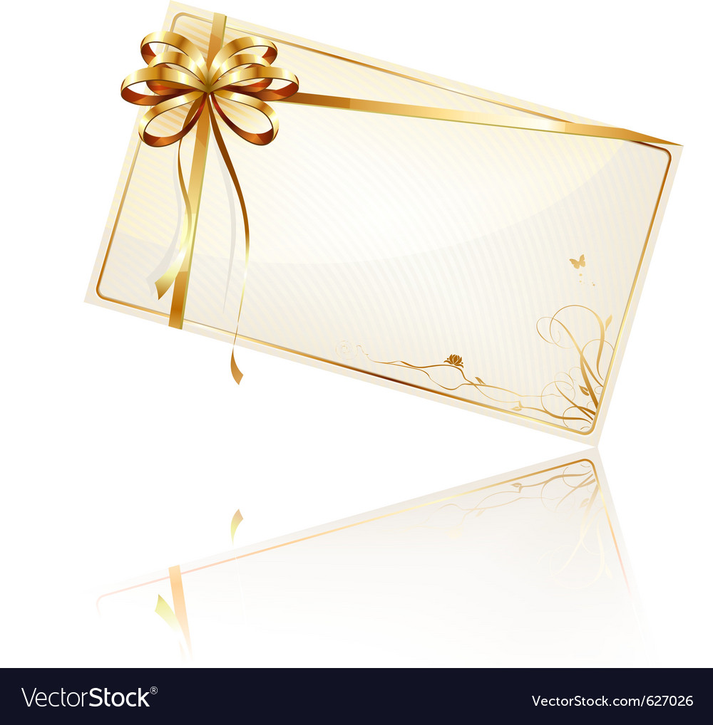Gift Card Royalty Free Vector Image Vectorstock