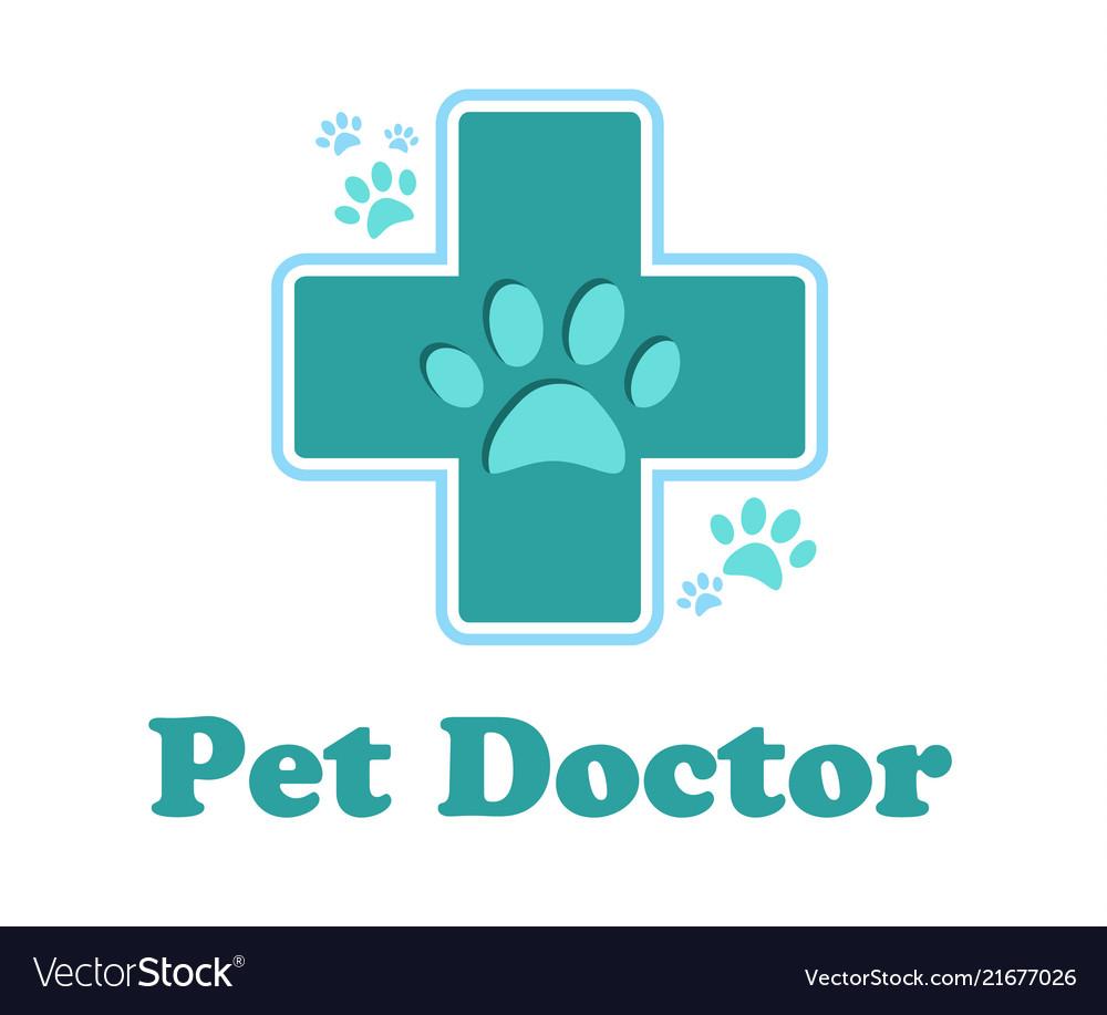 Logo pharmacy for animals cross