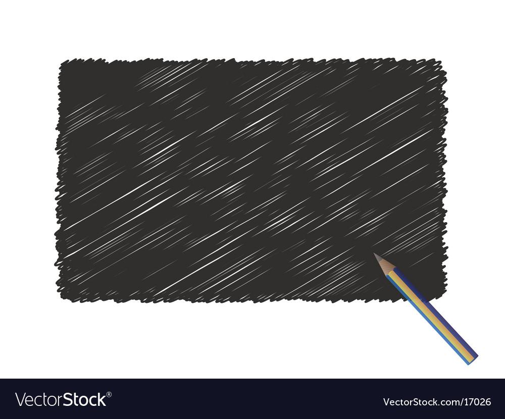 Pencil board vector image