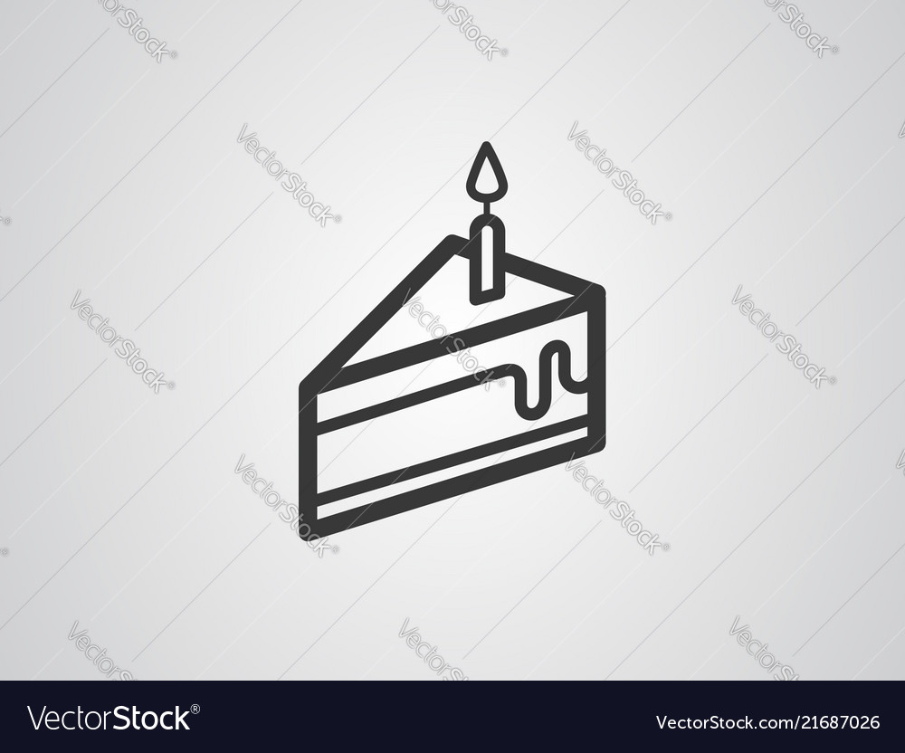 Piece of cake icon sign