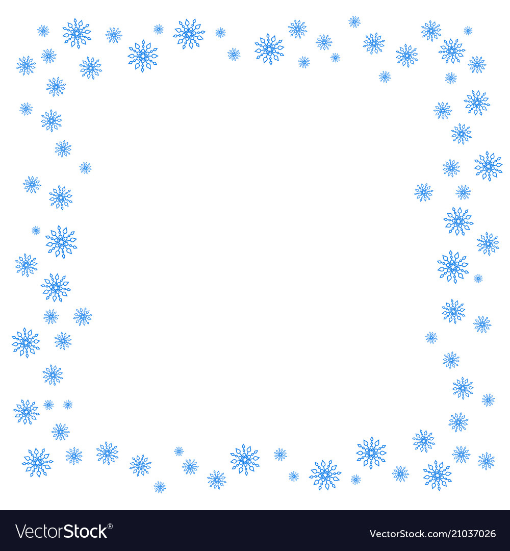 Square christmas border or frame with random
