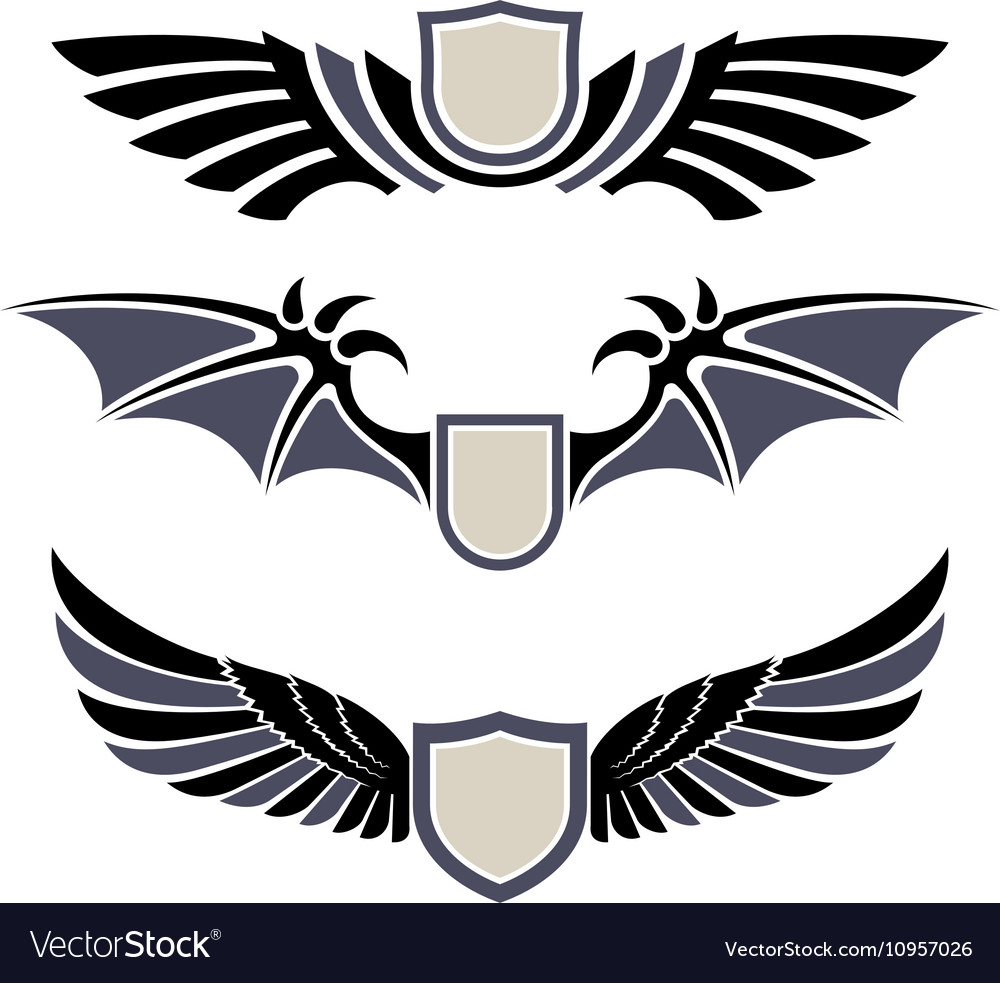 Wings Set of design elements