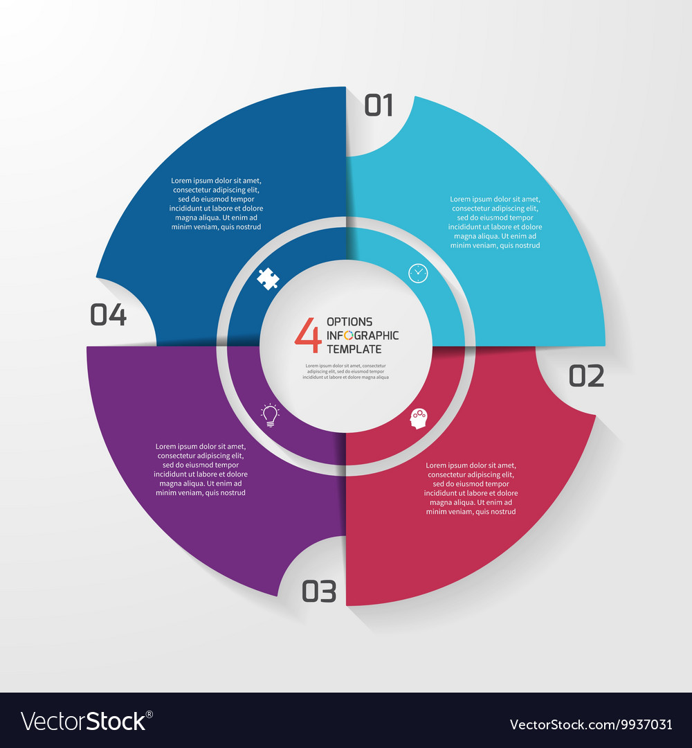 Circle infographic 4 options