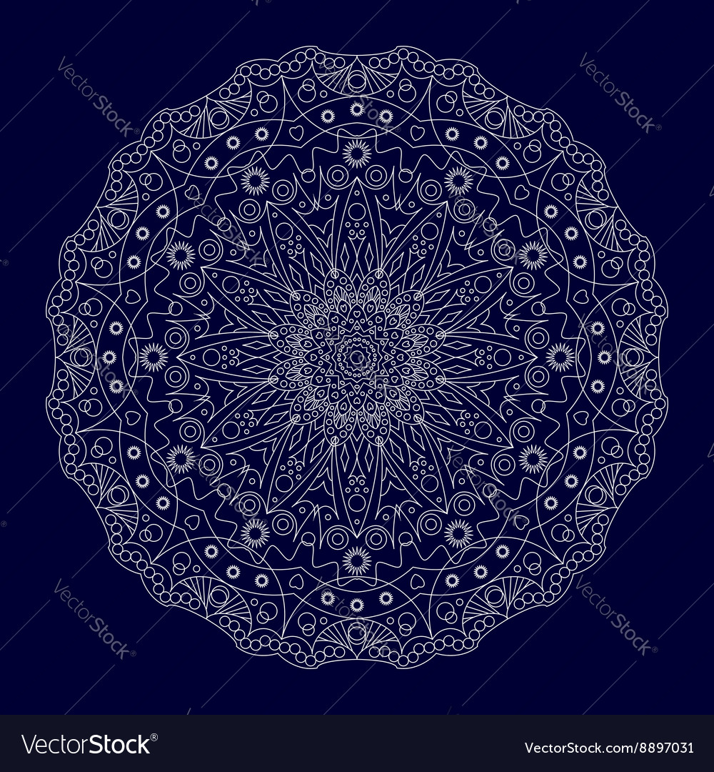 Circular lace ornament