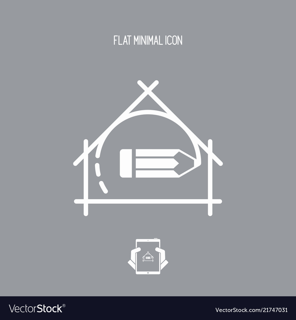 House planning - project design - flat icon
