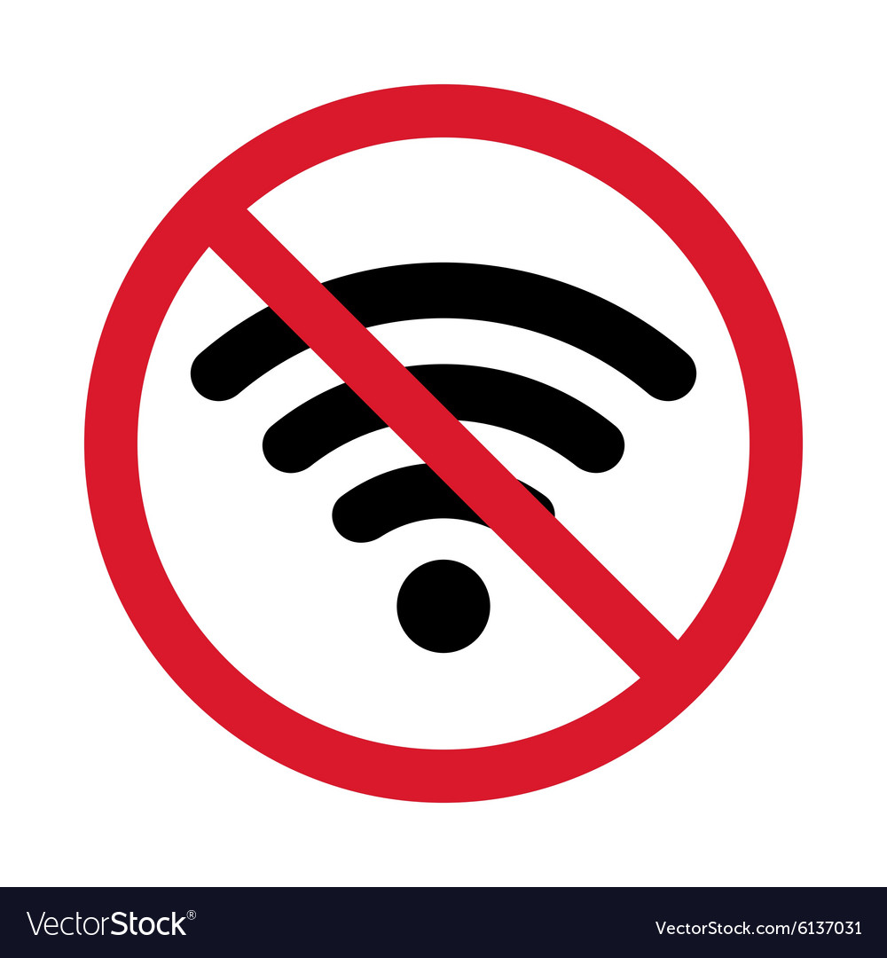 Icon of prohibition wifi isolated